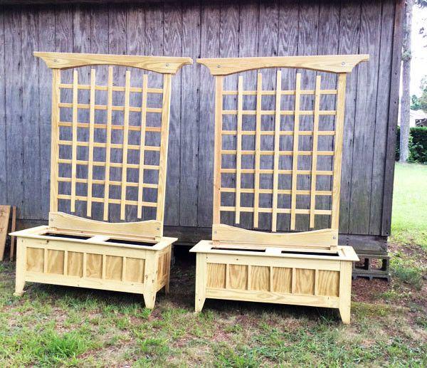 Diy Cucumber Trellis Planter Box Plans Pinterest 400 x 300