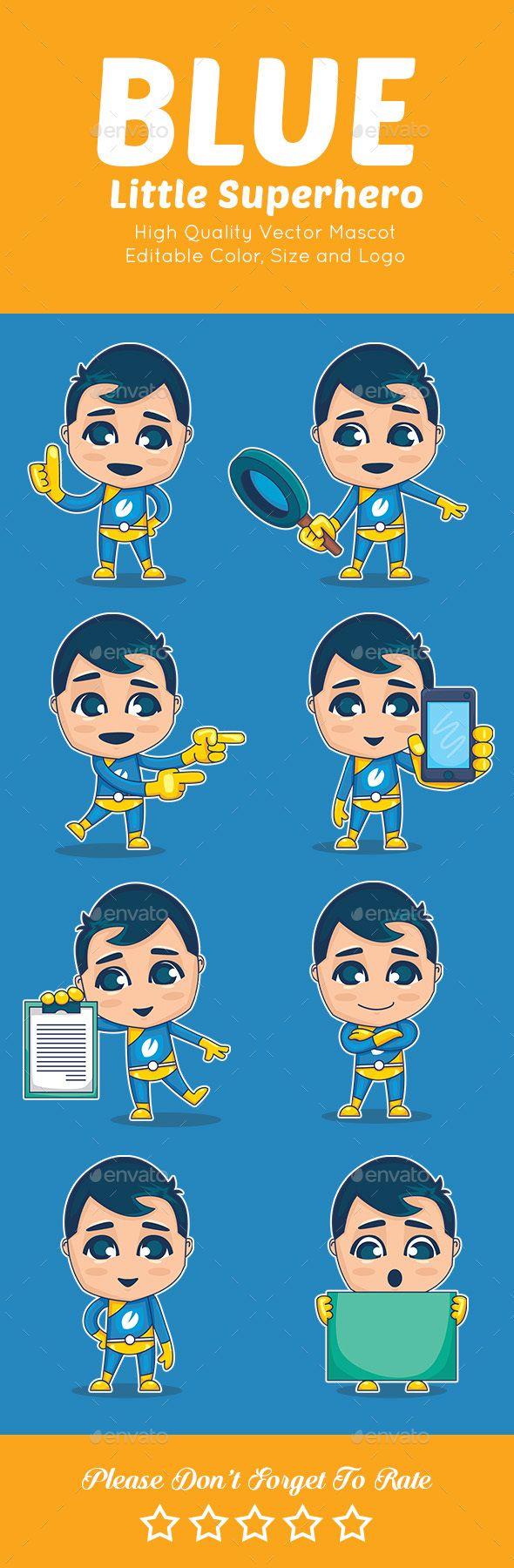 Super Hero Kids Mascot