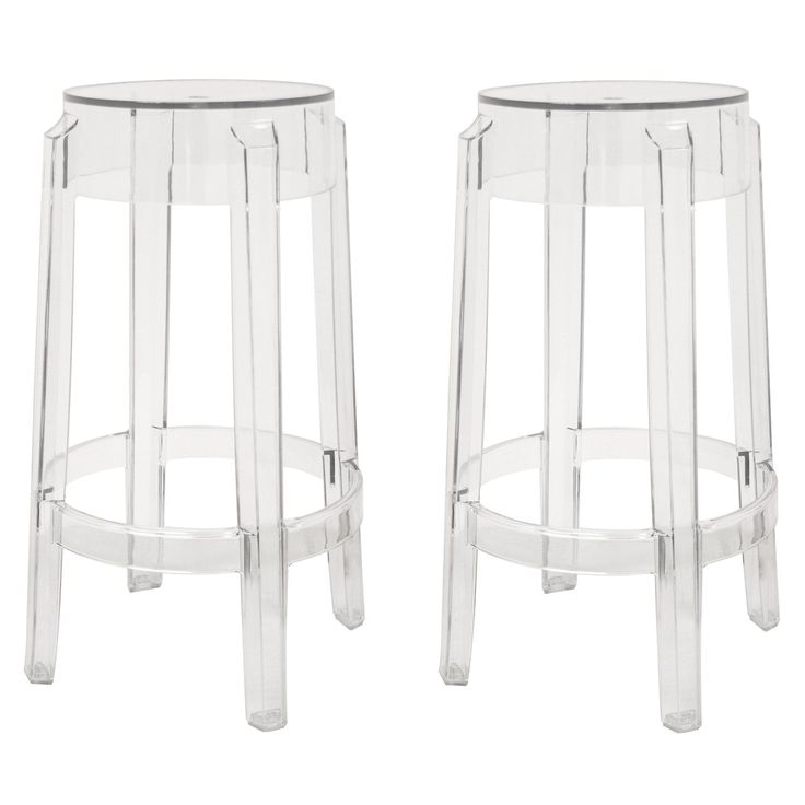 Bettino Clear Acrylic Counter Stool - Set of 2