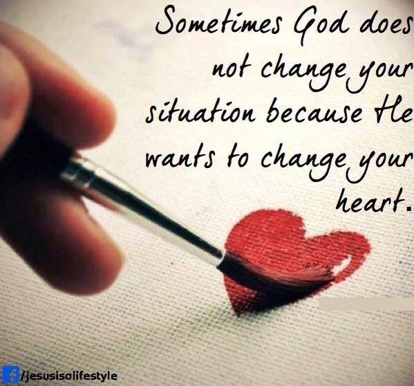 Sometimes God....