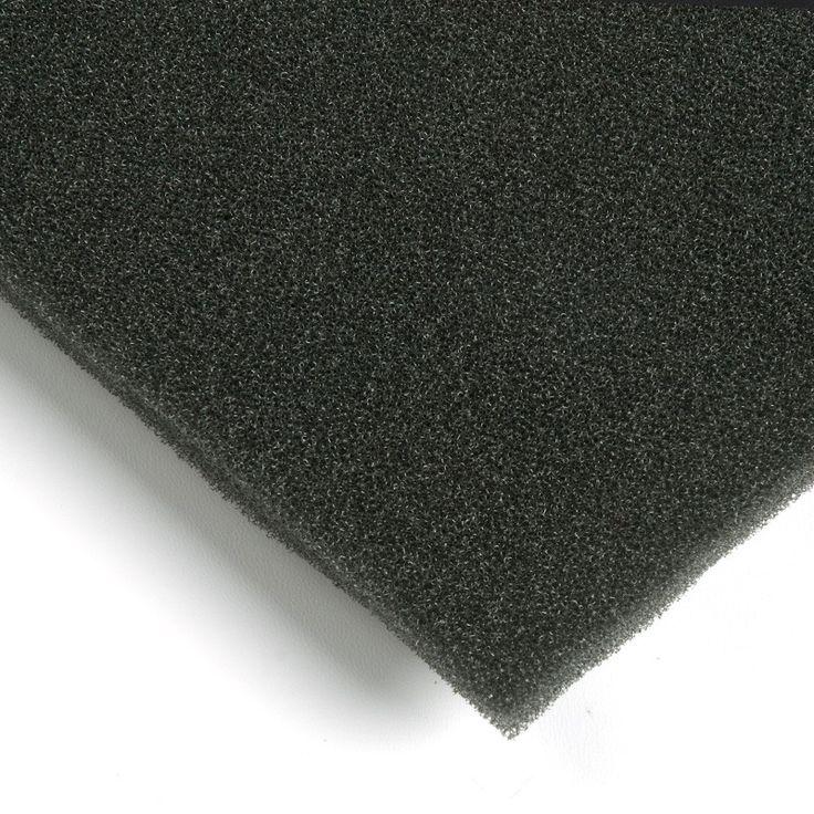 Espuma filtrante de aire. La espuma filtrante de aire es de color gris oscuro, se fabrica en poliuretano y se reticula sobre una base de poliéster. Es un material flexible muy adecuado para sistemas de aire acondicionado y climatización. Al ser una espuma de célula abierta permite - en función de su densidad - una filtración eficaz.