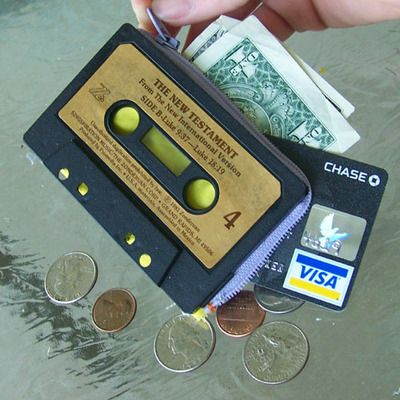 wallet from old cassette