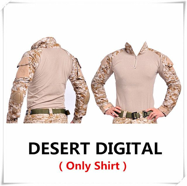 Camouflage tactical military clothing paintball army cargo pants with knee pads