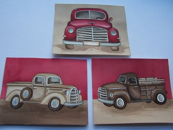 Set of three 8x10 prints made from my original handpainted watercolor paintings.  Printed professinally on heavy smooth gallery paper.  Middle