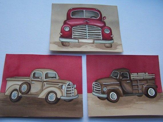 truck nursery art vintage truck art prints boys nursery art