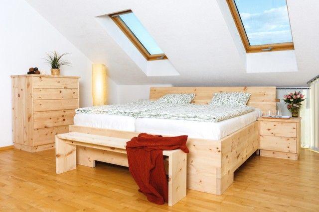 Holzbett Zirbe Massiv Bett