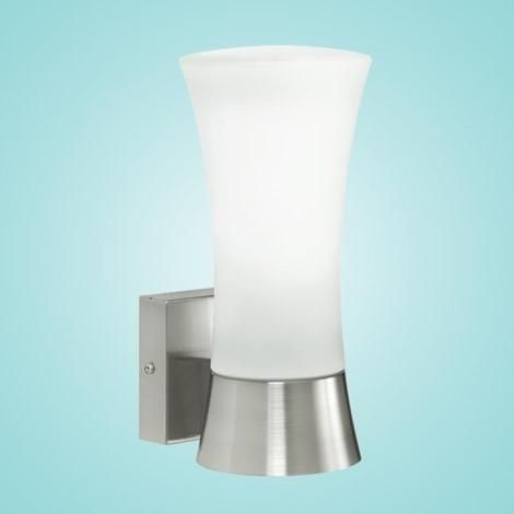 """Outdoor Wall Light w/ Stainless Steel Finish & Opal Frosted Glass 1 x 60W Dimensions: W:6.30""""; H:10.63"""" Type of bulb:A19 - Not included Special Features:"""