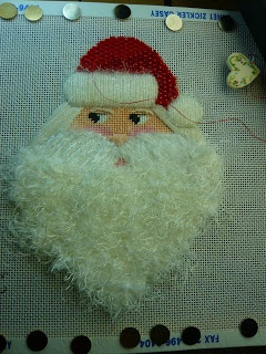 Beth's Needlework Stash: Santa's Got His Beard: Beards, Needlework Stash, Christmas Crafts, Christmas Needlepoint, Santa Needlework, Needlework Needlepoint, Needlepoint Santa, Beth Needlework, Needlepoint Canvas