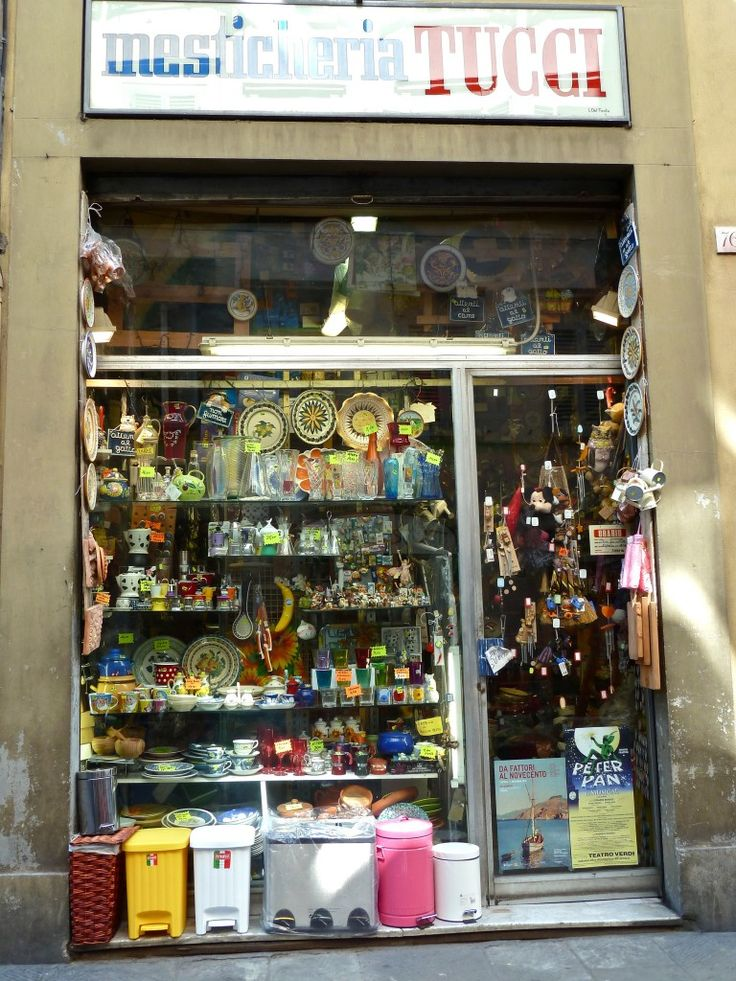 Small shops vs shopping malls - great Italian experience...in Tuscany, of course!
