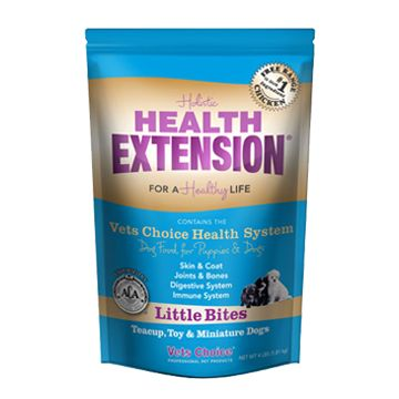 Health Extension Little Bites Puppy Dog Food. All natural and American made for a healthy life