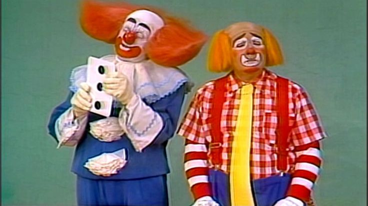 bozo!!! this was my FAVORITE tv show as a kid (needless to say i was never afraid of clowns..)