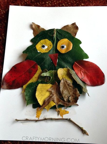 Make a leaf owl for a fall craft! Kids will love it.
