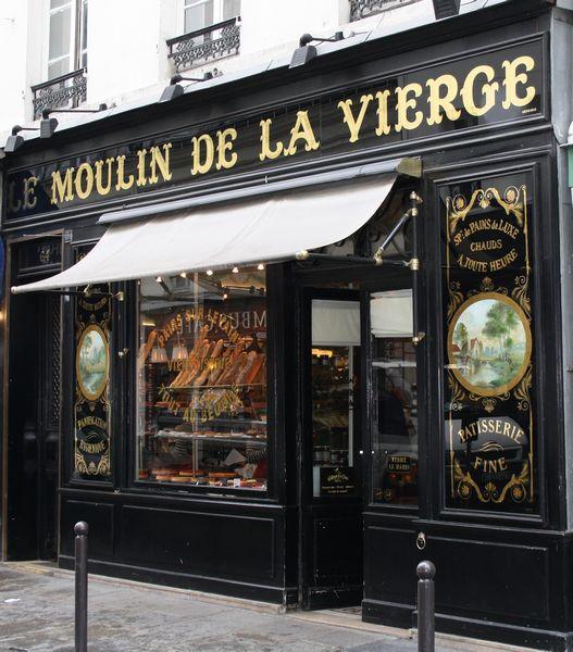 Le Moulin de la Vierge - Historical boulangerie 64, rue St Dominique 75007 PARIS.  Oh my - the croissant!