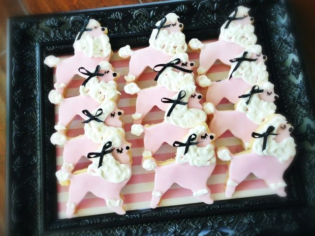 Cute cookies at a Pink Poodle in Paris girl birthday party!  See more party ideas at CatchMyParty.com!