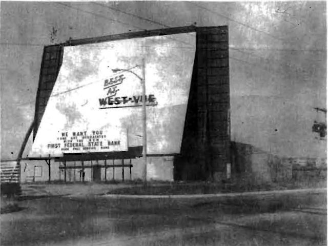 Photo of West-Vue Drive-In from Urbandale News c. 1973