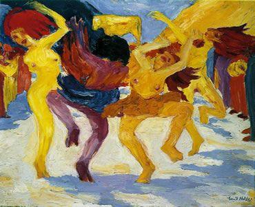 EXPRESIONISMO AUTOR: Nolde   quien conseguirá pintar la desnudez de las almas humanas. Bailarinas de las velas, Susana y los viejos.