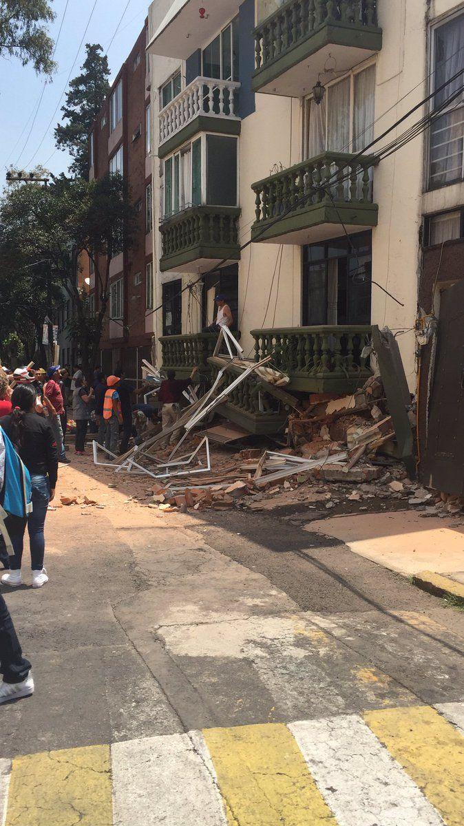 Balsas No. 18 Col. Miravalle. Después del sismo del 19/09/2017 CDMX.