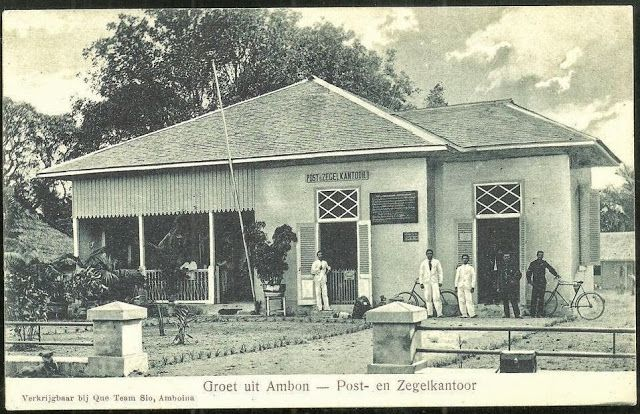 OPOI: Ambon Post Telegraph Office ~ Moluccas (Maluku) ~ Indonesia ca 1906