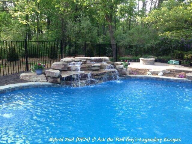 Diving Rock Water Feature Swimming Pool Refurb