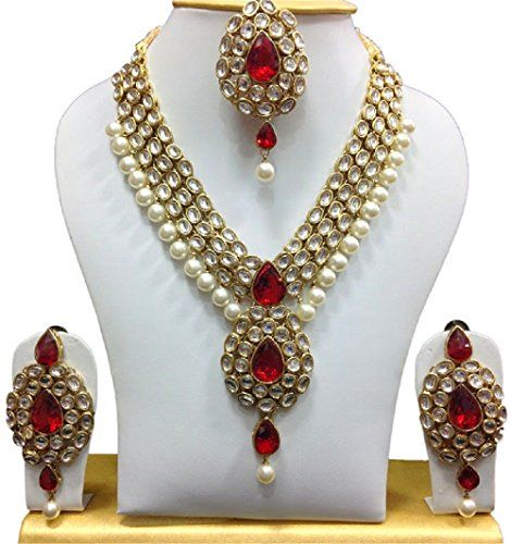 Wedding Women Bridal Red Stone Kundan Jewelry Bollywood I... https://www.amazon.com/dp/B06XX98HHM/ref=cm_sw_r_pi_dp_x_lcIvzb3H15GSS