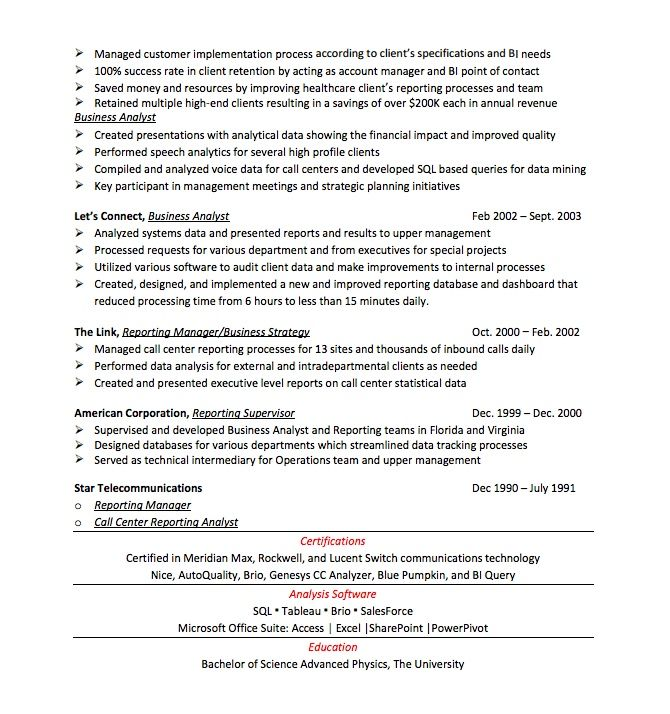 Resume Makeover for Business Analyst Resume | Business ...