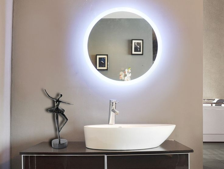 top off your modern bathroom with the simple yet chic paris mirror round bathroom mirror with led backlight this simple round mirror is backlit and