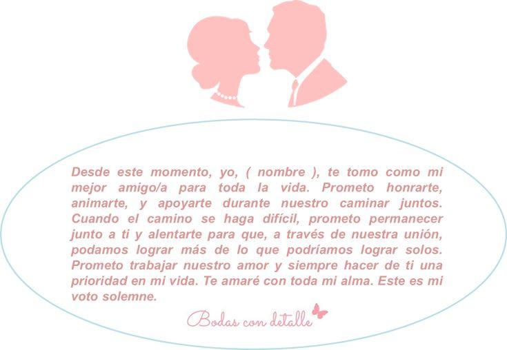 Bodas con detalle - Blog especializado en bodas | por Rebeca Ruiz: Ideas para los votos matrimoniales