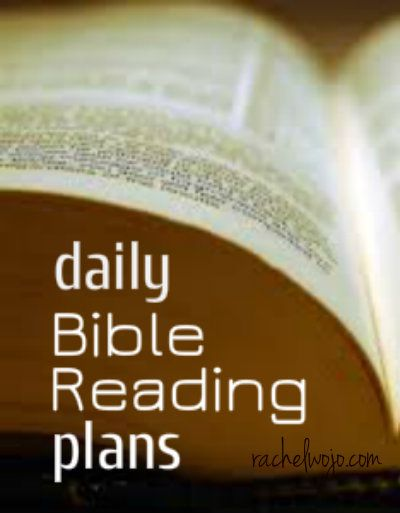 daily Bible reading plans- several sites and options listed!