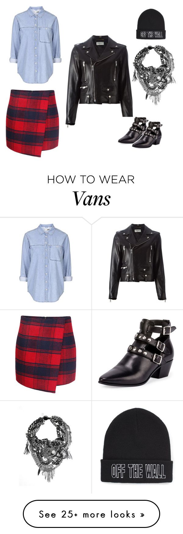 """""""rocker chic"""" by ioana-croitoriu on Polyvore featuring Vans, Topshop, Yves Saint Laurent, women's clothing, women, female, woman, misses and juniors"""