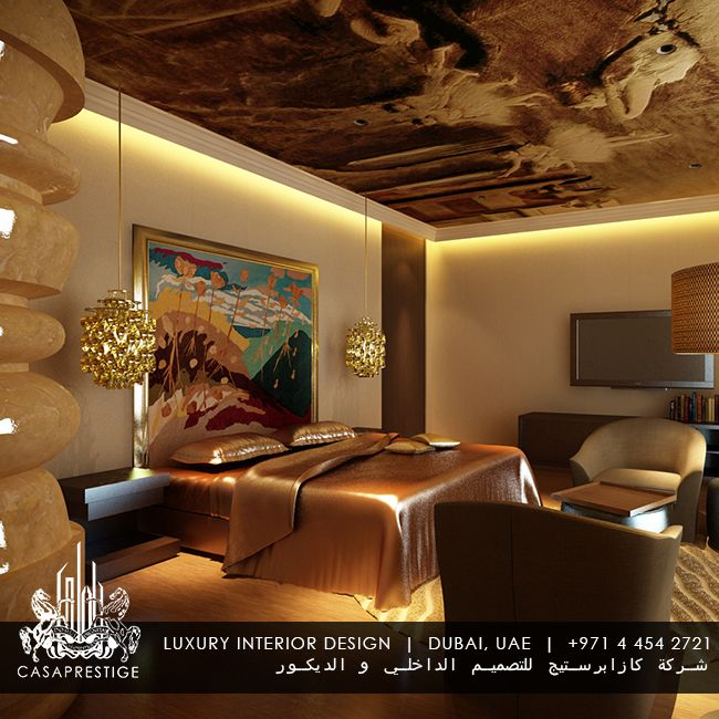 Luxury Master Bedroom Interior Design In Dubai By