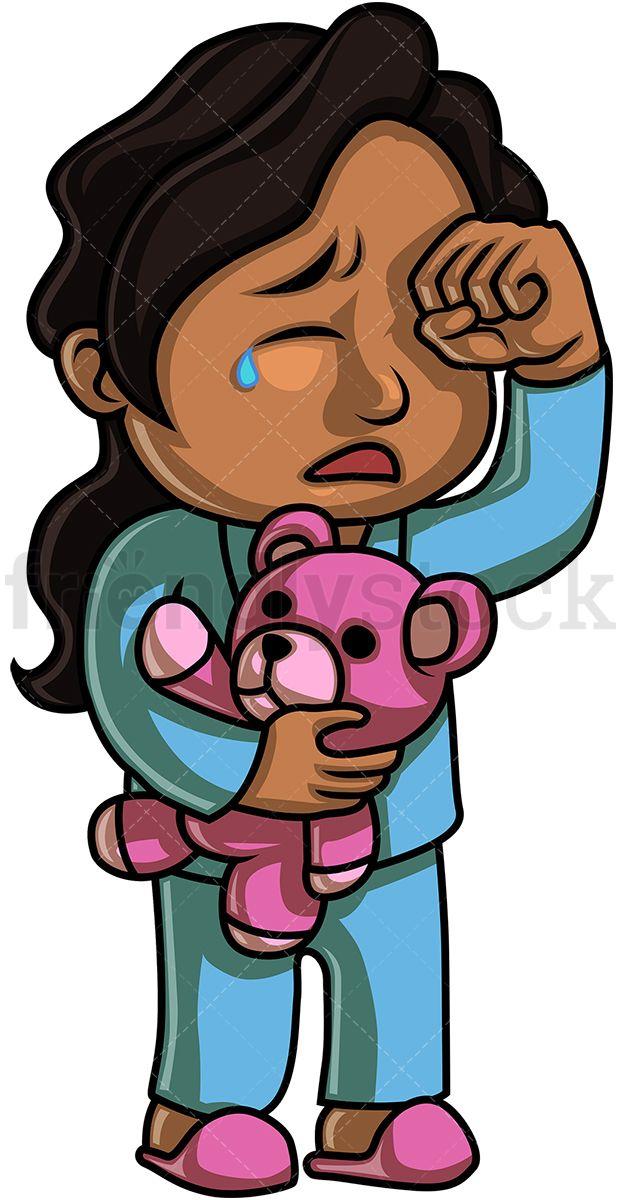 Black Little Girl Crying Cartoon Clip Art Black Little Girls