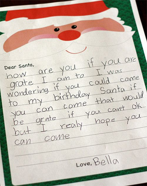 Best Letters To Santa Images On   Letter To Santa