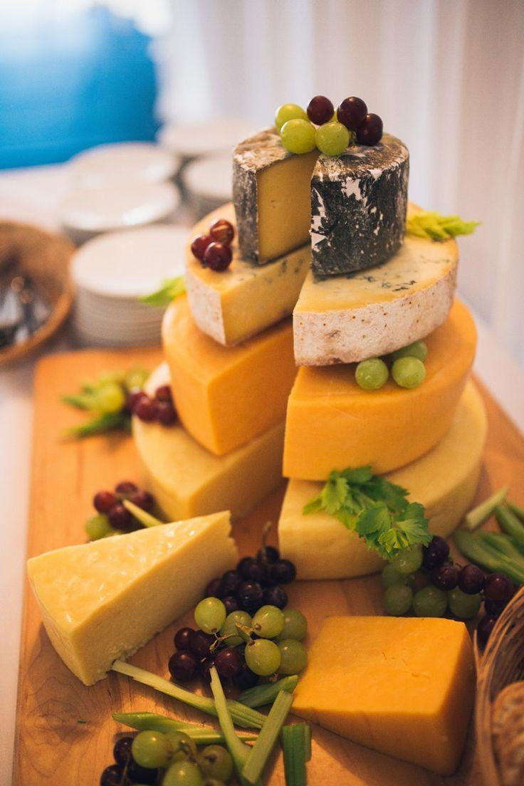 Cheese Tower Stack Beautiful Relaxed Summer Blush Wedding http://jenmarino.com/
