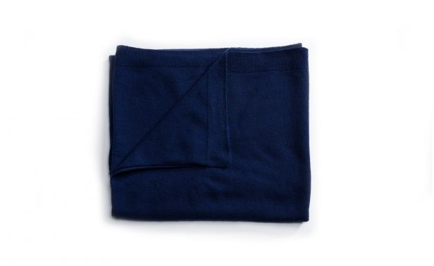 IN BED Cashmere Throw - Navy
