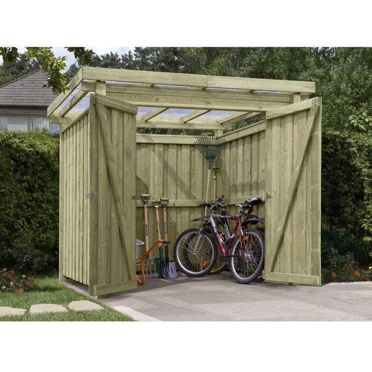 Vintage Ger tehaus Holz mit Flachdach Typ Gartenhaus x cm von Gartenpirat