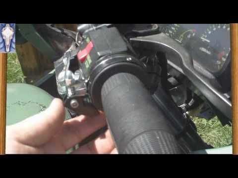 """I recently purchased a """"Universal Vista"""" cruise control for my EX500. This unit clamps onto the handlebar and uses a bar that runs across the ignition switch..."""