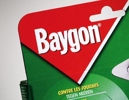 BAYGON  (08/04/2010)  Il riposizionamento della brand sposta la sua attenzione dalla protezione all'efficacia dei prodotti.  Creata nel 1975 da Bayer, Baygon viene acquisita nel 2003 da SC Johnson. La multinazionale ha la necessità di differenziare Baygon dalle altre brand di pest control in portafoglio (Raid, Off!, Autan). Il concept viene tradotto in un system grafico caratterizzato dal mirino che centra la fotografia dell'insetto.