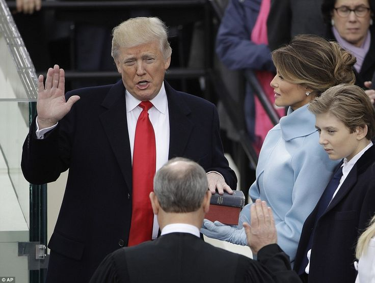 Donald Trump is sworn in as the 45th president of the United States by Chief Justice John ...