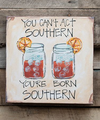 Look what I found on #zulily! 'Born Southern' Wrapped Canvas #zulilyfinds