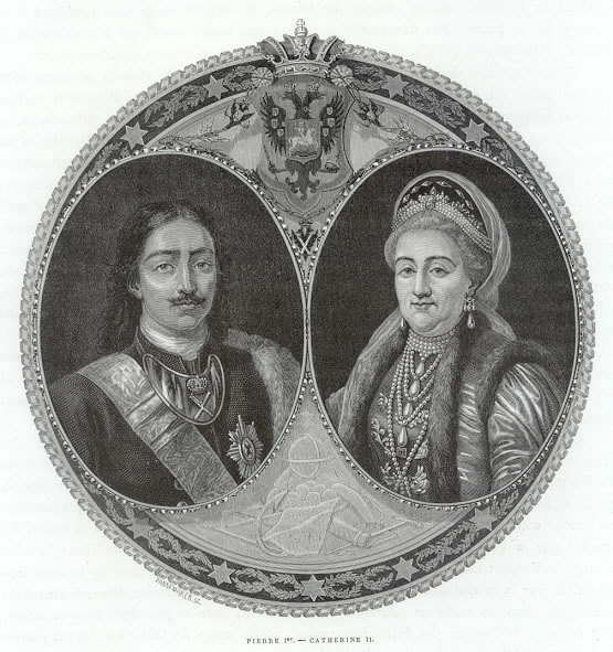 Peter  the Great and Catherine the Great two of the most interesting of the Russian Tzars.