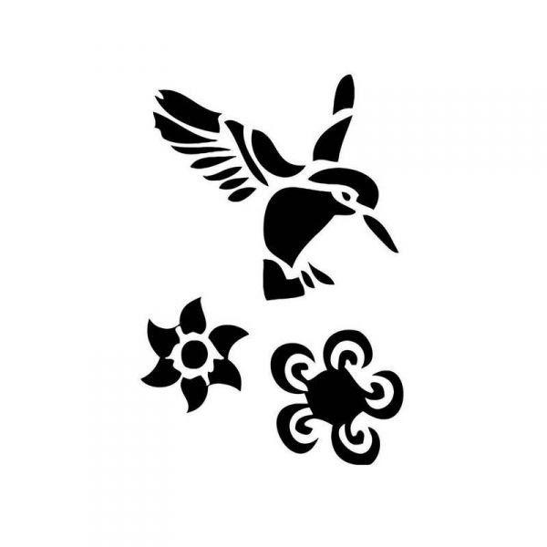 Pochoirs Oiseaux pour tatouage non permanent - Tattoos Oiseaux ...