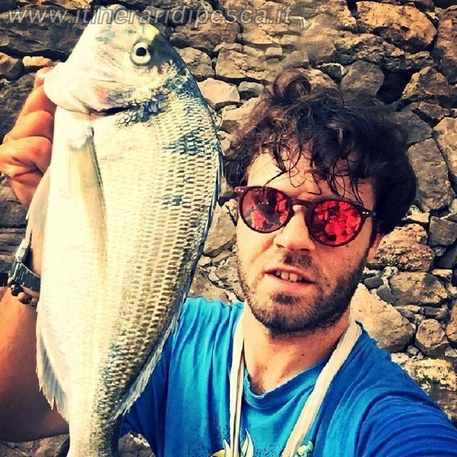 Sperlonga: orata a ledgering dalla scogliera pesca fishing