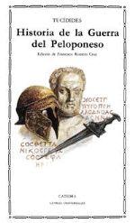 Historia de la guerra del Peloponeso, Tucídides, Catedra.  Su gran hallazgo está en considerar al hombre y no a la divinidad como motor de la Historia.