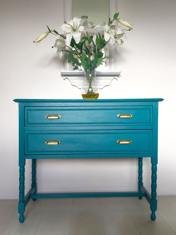 farrow and ball vardo chest of drawers, teal