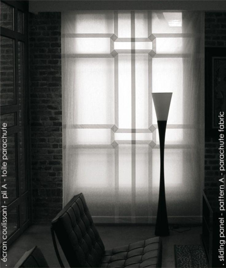 Pietro Seminelli - écran coulissant - pli A - toile parachute