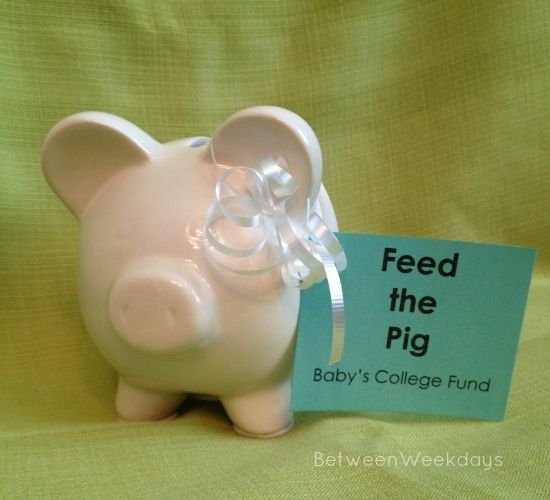 Great baby shower idea! Feed the Pig Baby Shower Decor BetweenWeekdays.com
