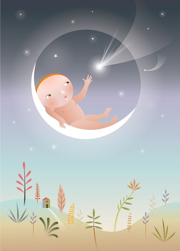 #ChristianeBeauregard #moon #moonandstars #conceptualillustration #digitalillustration #illustration #lindgrensmith #childrensillustration #childrensbook