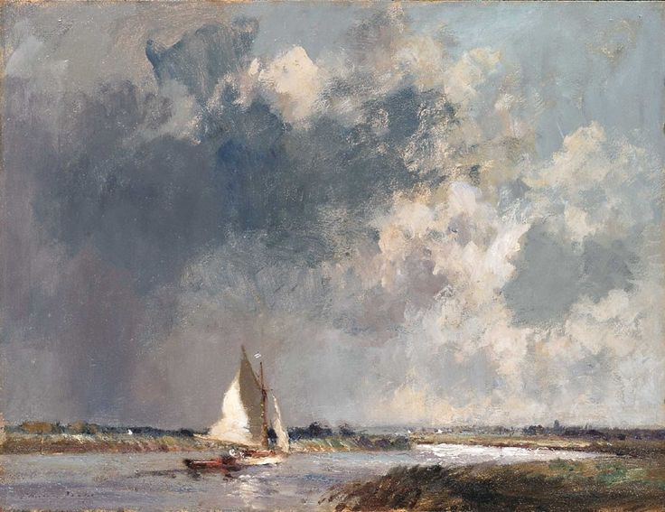 Edward Seago. Approaching Storm, near River Thurne, Norfolk