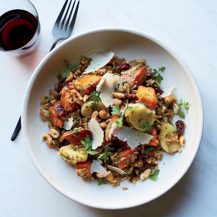 Farro with Vinegar-Glazed Sweet Potato and Apples | Recipe ...