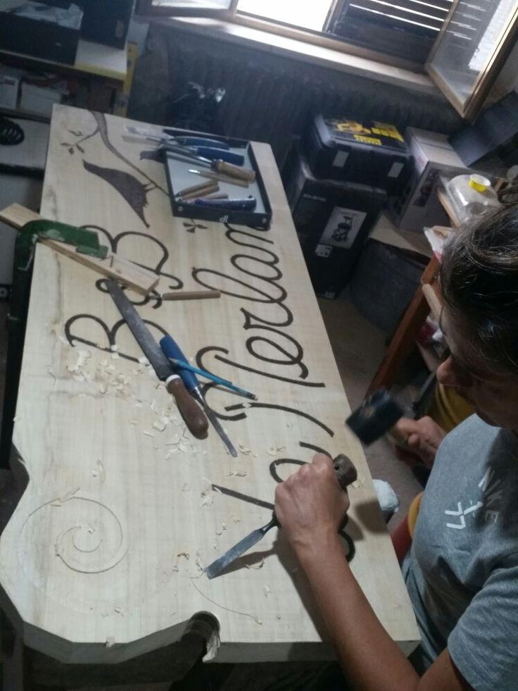 Insegna per B&B La Merlana, Morrovalle. By Annalisa Tombesi